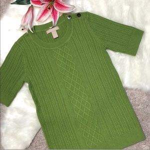 Banana Republic Knit Short sleeve Green Pullover.